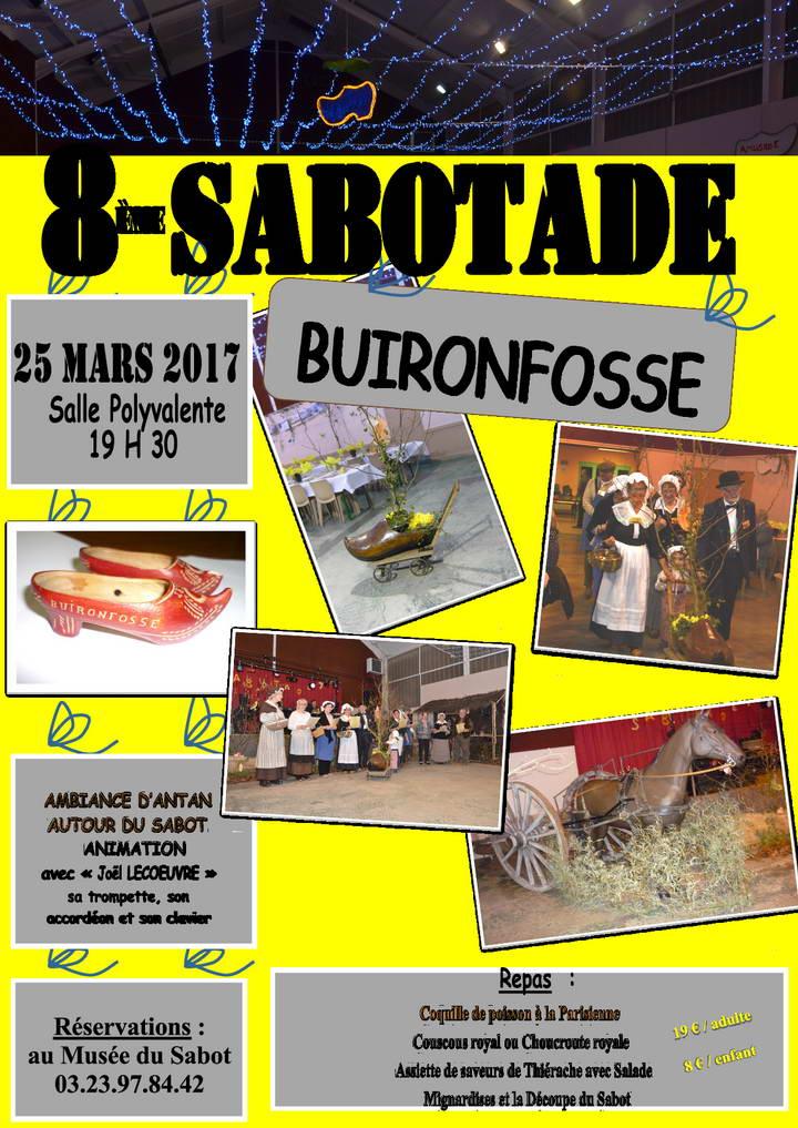 8ème Sabotade de Buironfosse, samedi 25 mars 2017